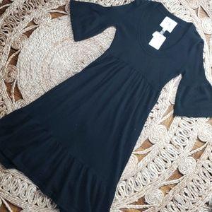 Cashmere bell sleeve dress